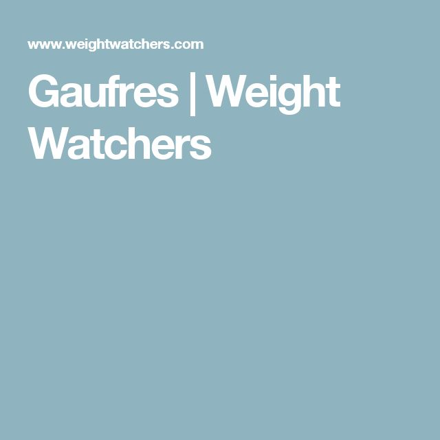 Gaufres | Weight Watchers