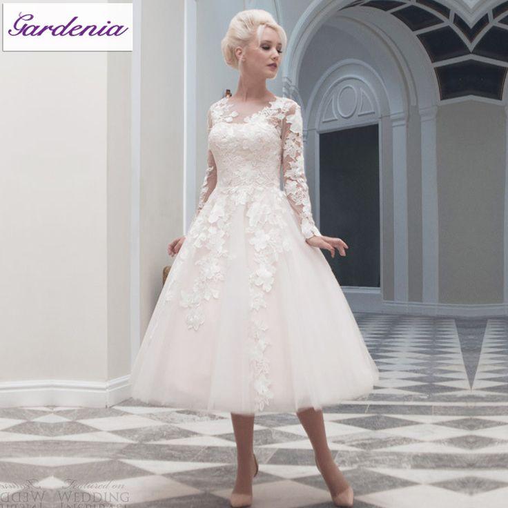 Vestido-De-Casamento-Color-marfil-Vestido-nupcial-Vestido-De-Noiva-encaje-De-manga-larga-vestidos-novia.jpg (800×800)