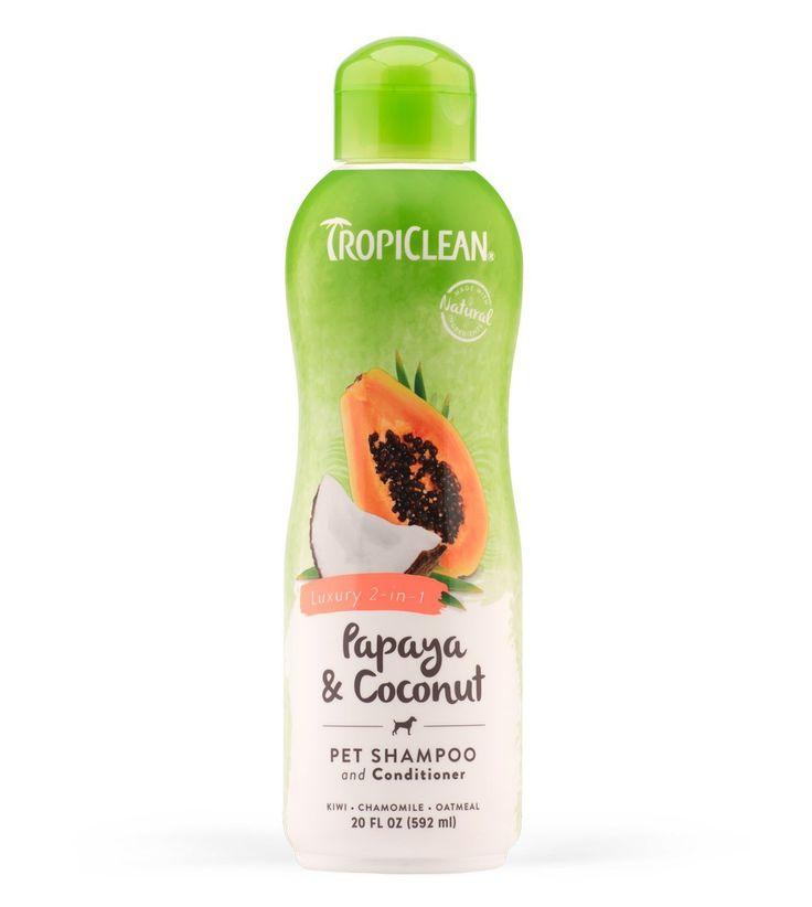 Tropiclean Papaya/Coconut Pet Shampoo Conditioner 20oz