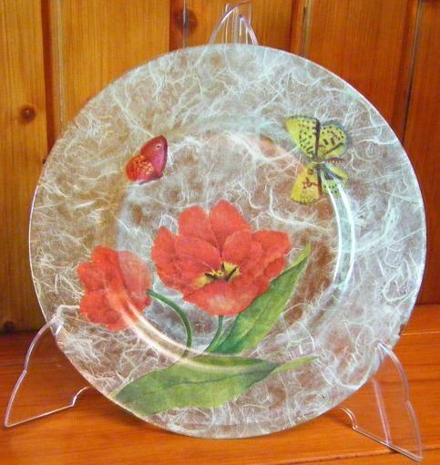 17 best images about platos decorados decoupage on - Servilletas de papel decoradas para manualidades ...