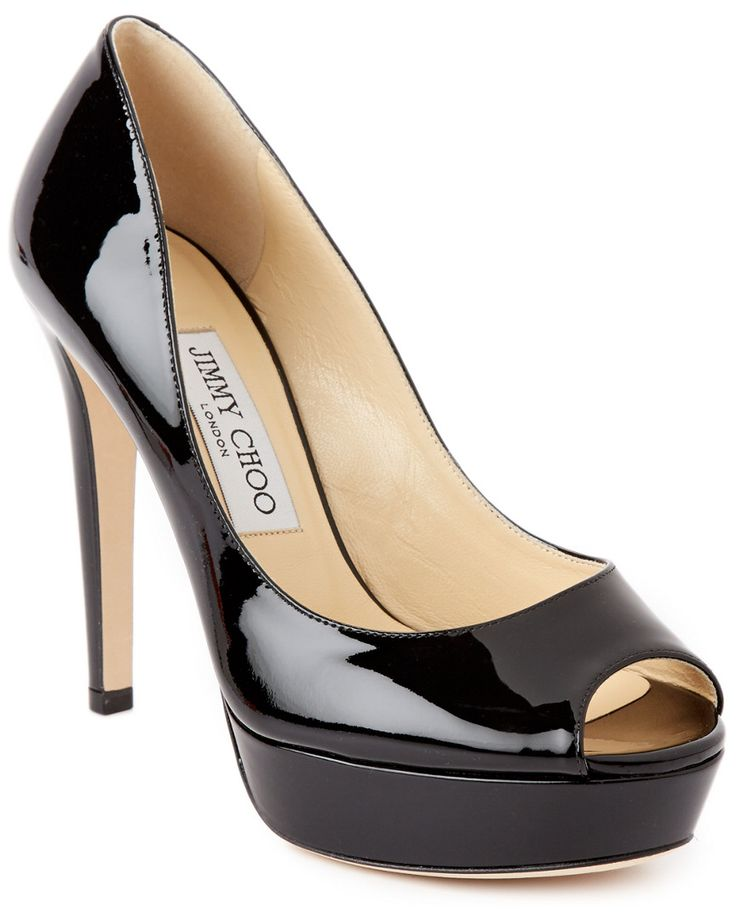 Jimmy Choo Dahlia Patent Leather Platform Peep-Toe Pump is on Rue. Shop it now.