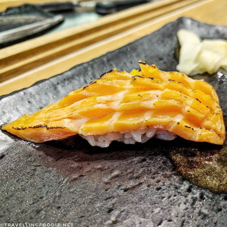 Still thinking about the super fatty melt in your mouth Ocean Trout sushi I had at @zenjapaneserestauranttoronto last night ! You can even see the oil glistening in the photo. Don't recall if I've had Ocean Trout sashimi before but definitely will remember this now! I ordered two more after the omakase was done because it was just amazing af! Doesn't this sushi look like a porcupine?  #TravellingFoodie __  Zen Japanese Restaurant  7634 Woodbine Ave Markham ON L3R 2N2 Canada…