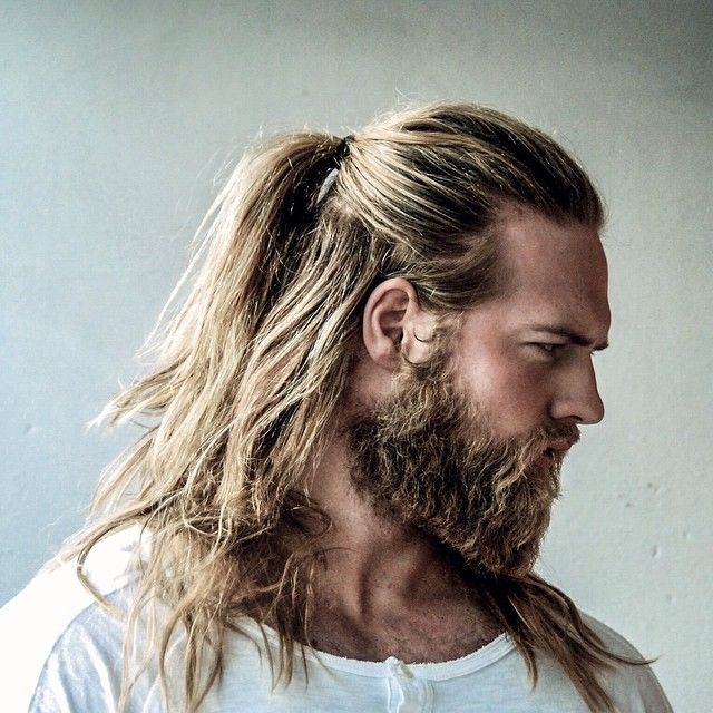 Josh Mario John before the razor-fade pompador that made him a household name.- not a huge fan of the beard but he looks like a Viking :)