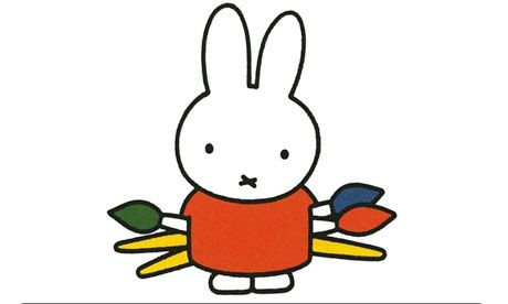 She's the rabbit with two dots and a cross who became a cult figure. Lisa Allardice meets her creator, Dick Bruna.