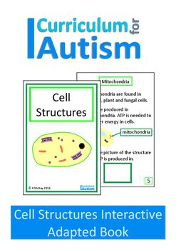 An adapted interactive science book on cell structuresThis book will teach your middle & high school students with autism some basic facts about cell structures.As you will see from the preview, this book is not for beginner readers.Instructions from how to make this interactive book are included in my TOU page- the 2nd page of the pdfPlease note- you will require velcro dots for this book.You may also like:Cells Comprehension Worksheets & Mini BookAtoms and Molecules Comprehension Pa...