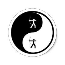 Yin Yang Archery Sticker