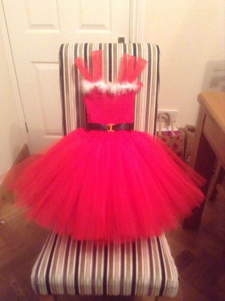 Handmade Red and White miss Christmas dress