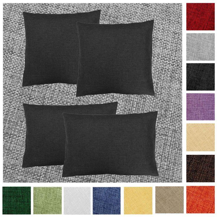 Kissenhülle 2 Stück LEINEN Optik 40x40 50x50 40x60 Kissenbezug Einfarbig Lounge | Möbel & Wohnen, Dekoration, Dekokissen | eBay!