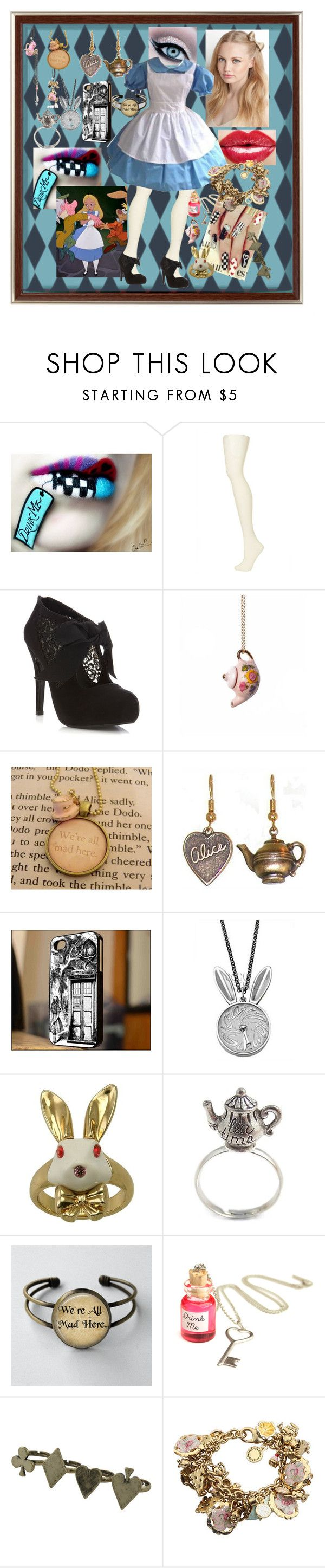 """""""Alice in Wonderland"""" by faleur102 ❤ liked on Polyvore featuring Topshop, Miss Selfridge, amika, Tom Binns, Disney Couture, Once Upon a Time, Crafted, Betsey Johnson, disney and Alice"""