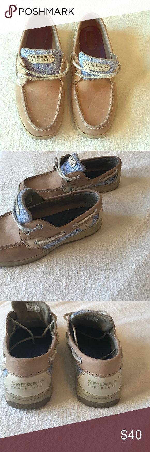 Blue sequin Sperrys Great condition! Worn maybe 5 times. They do have some dirt on them but I will clean them when they sell so they'll be good as new! 8M. Sperry Top-Sider Shoes Flats & Loafers