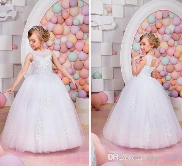 The pink flower girl dresses which match the flowers-new lace backless appliques jewel flower girl dresses vintage child pageant dresses beautiful flower girl wedding dresses custom made is offered in guoguo888 and on DHgate.com red flower girl dresses along with toddler girl dresses are on sale, too.