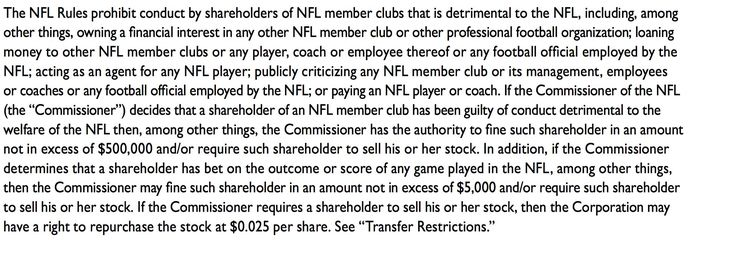 Best part of Packers shareholder agreement? Roger Goodell can fine you up to $500000 for conduct detrimental  https://twitter.com/darrenrovell/status/889524191472611329 Submitted July 24 2017 at 12:36PM by ValKilmsnipsinBatman via reddit http://ift.tt/2eHTizQ