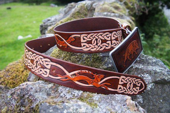 celtic belt celtic animal knots belt by PocillatorWorkshop on Etsy