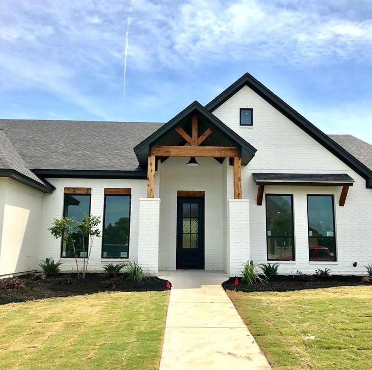 Modern Farmhouse Exterior Design Brick Exterior House Modern Farmhouse Exterior Exterior House Colors