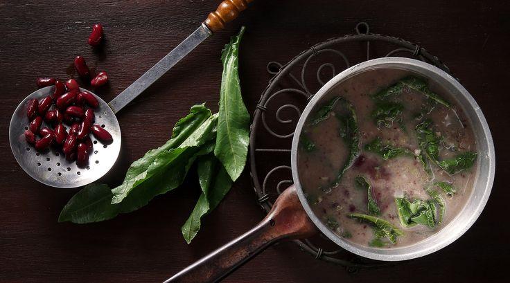 Sorrel and Kidney Bean Soup!
