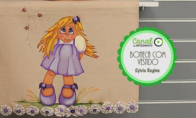 Boneca com vestido - Sylvia Regina