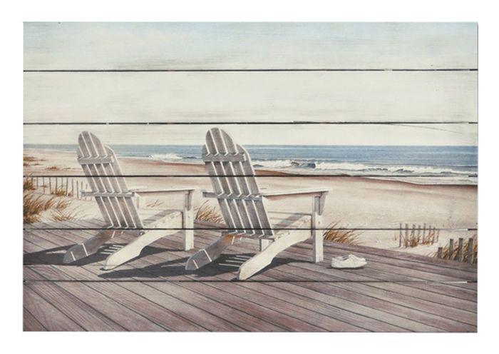 Peinture sur bois chaise plage code bmr 057 4125 projet sur bois peinture sur bois - Chaise bois flotte ...