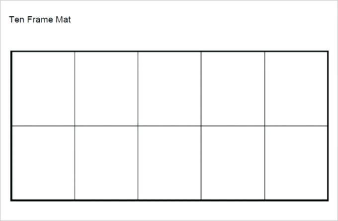Ten Frame Template Or Printable Picture Frame Templates Free In