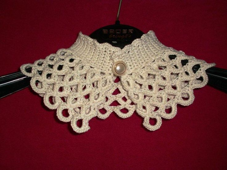 Looking for crocheting project inspiration? Check out Crochet collar - shells with one button by member Popelka.
