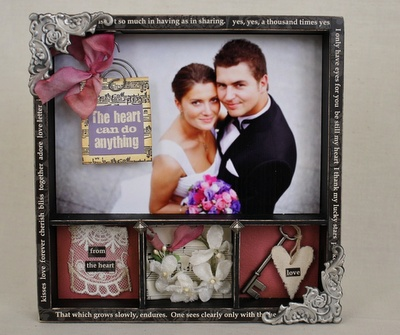 wedding gift shadow box