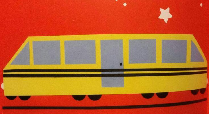 Plakboek: vervoer trein vouwen