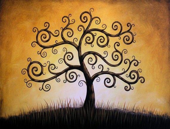 Arbre de vie... 8 x 10 brillant giclée Print--de ma peinture originale de Amy Giacomelli                                                                                                                                                     Plus