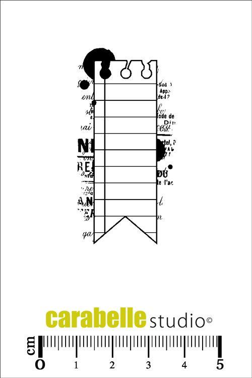 Tampon : Etiquette Fanion - CARABELLE STUDIO - Tampon d'art