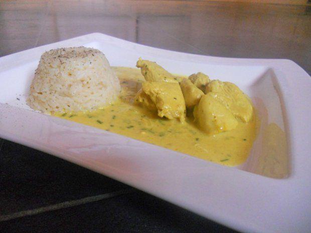 Putengeschnetzeltes mit Kokos-Currysauce