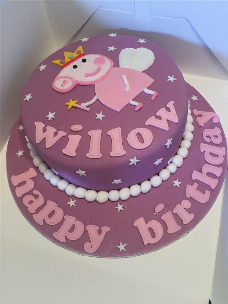 Fairy Peppa Pig birthday cake