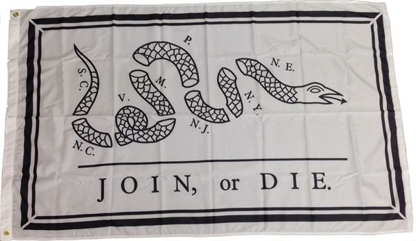 Picture of Join or Die Flag (Benjamin Franklin) Flag