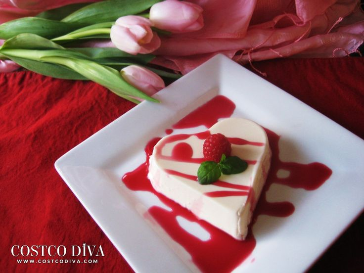 Valentine's Raspberry Panna Cotta with a Hint of Mint