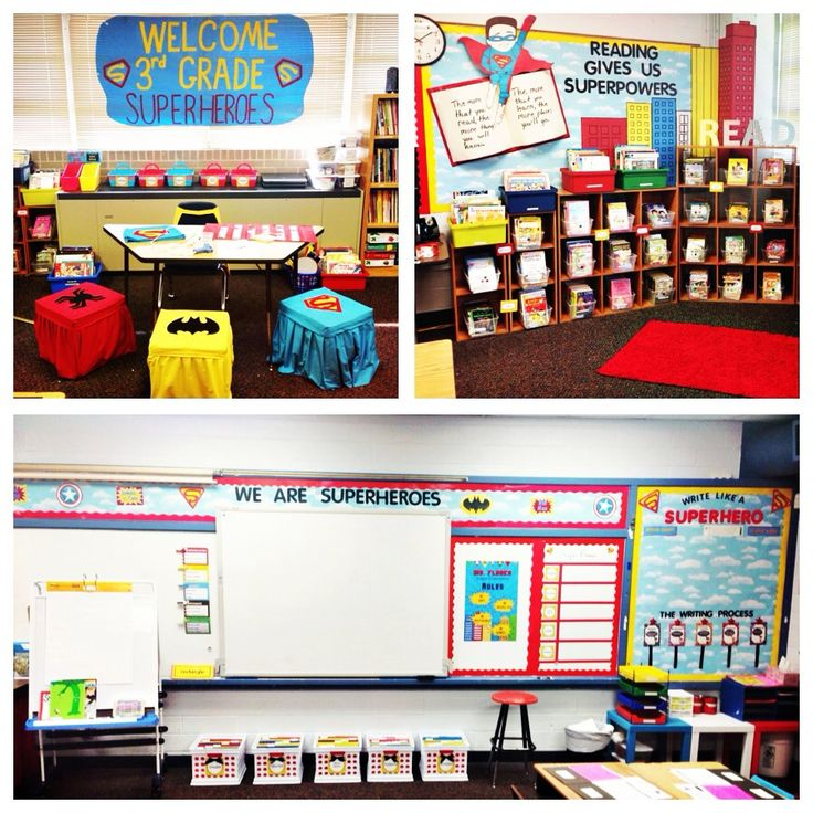 Superhero themed classroom