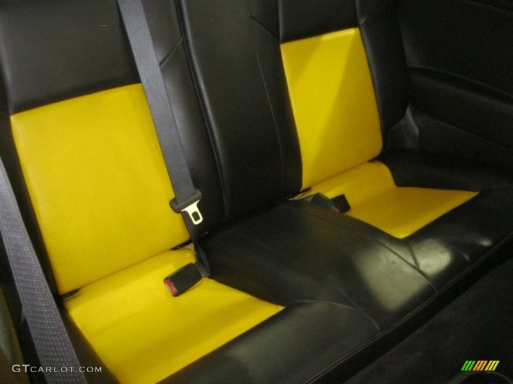 Ebony/Yellow Interior 2005 Chevrolet Cobalt SS Supercharged Coupe yellow and black interior