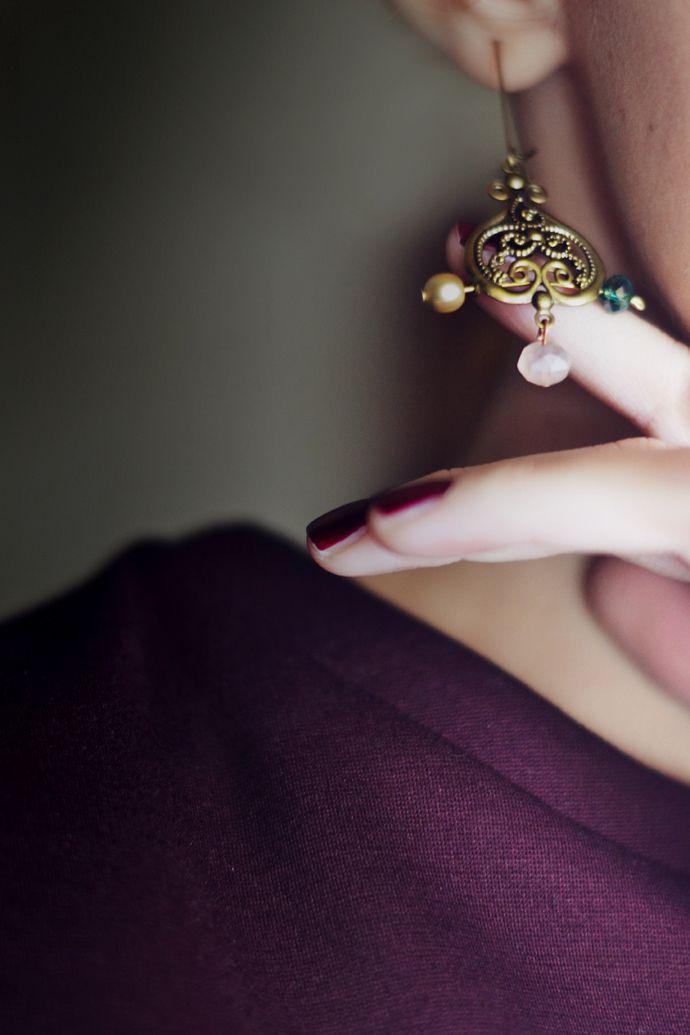 #vintage like #earrings by #Greek designer Karin Argyriou for @helmi tamam - Be Different #supportgreekfashion #lagrecejaime