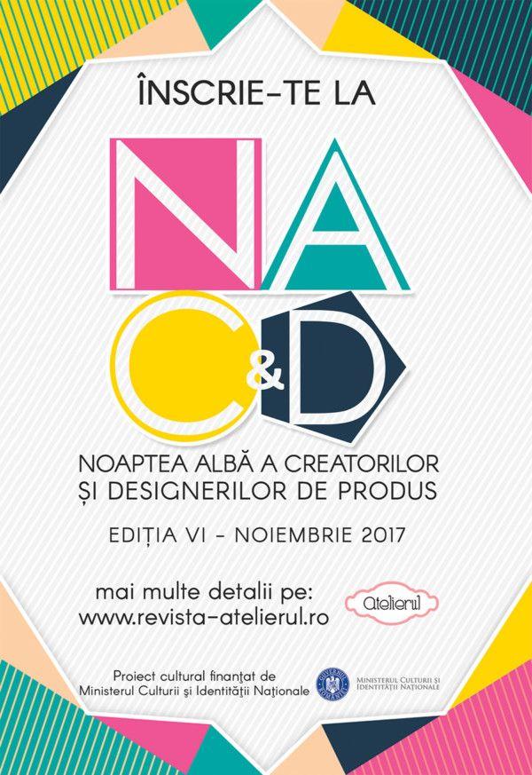 Proiectul Noaptea Albă a Creatorilor & Designerilor de Produs se pregătește de o nouă ediție în București, în luna noiembrie (detalii TBA) Ca în fiecare an, deschidem sesiunea de înscrieri pentru designeri și creatori, debutanți sau consacrați, cu colecții noi sau proiecte interesante.  http://www.revista-atelierul.ro/2017/10/09/inscrie-te-la-noaptea-alba-a-creatorilor-designerilor-de-produs-2017-editia-vi/