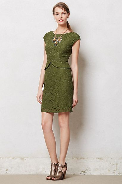 Belcourt Column Dress #anthropologie #anthrofave - way too perfect for work.