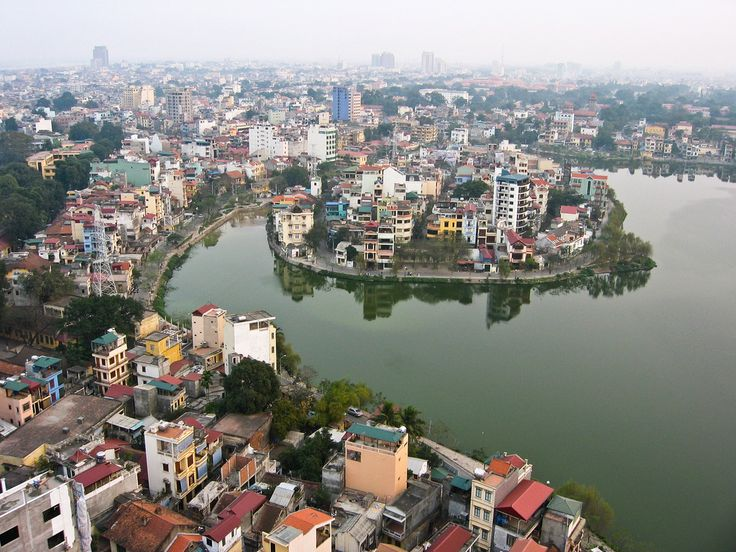 Government: The populated skyline of Hanoi, Vietnam. It is the capital of the country and is home to the communist government buildings and government officials, similar to Washington, D.C.