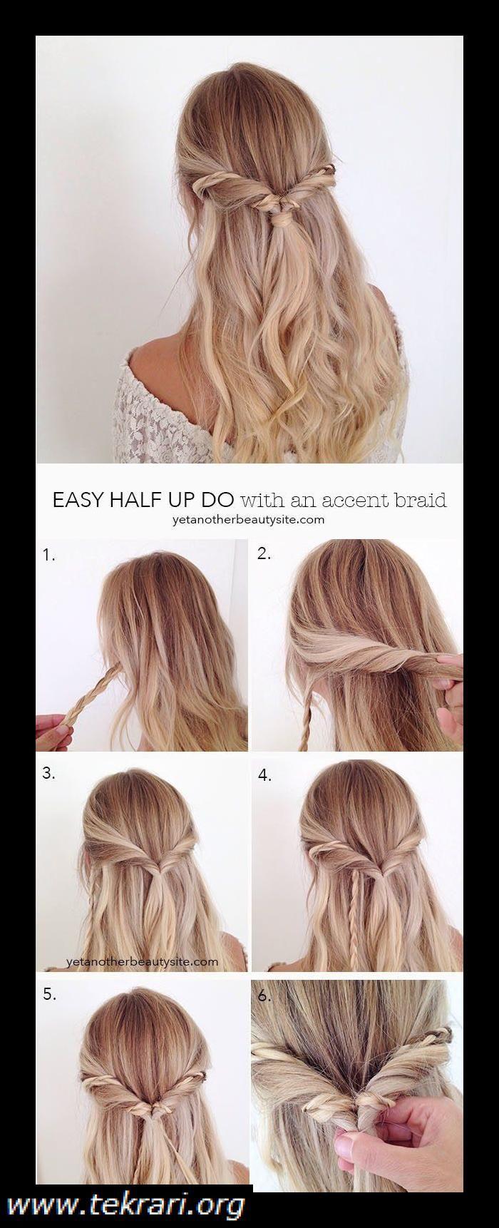 Last Minute Hairstyles For Modern Look Every Day Hair Hair Hairstyles Longhair Shorthair Blondhair Simple Prom Hair Hair Styles Long Hair Styles