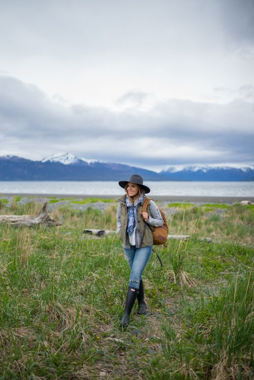 Patagonia Vest (on sale), Patagonia Fleece, Madewell Shirt (on sale), Madewell Jeans, Hunter Boots, Madewell Hat, Madewell Scarf(on sale), Patagonia Backpack Our trip to Alaska was hands-down ... #cruiseoutfitsalaskan