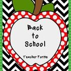 This is a set of six back to school forms.  Some forms are editable, so you can type right onto the page. Included are:  Parent/Student Survey Ask ...