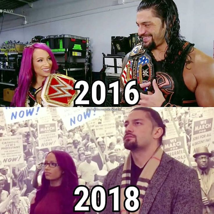 """376 Likes, 6 Comments - Roman Reigns (@realromanwwe__) on Instagram: """"#RomanReigns and #SashaBanks - 2016 & 2018  Follow for more ( @realromanwwe__ ) #WWE - -…"""""""