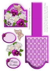Purple Pansy Easel Card on Craftsuprint - View Now!