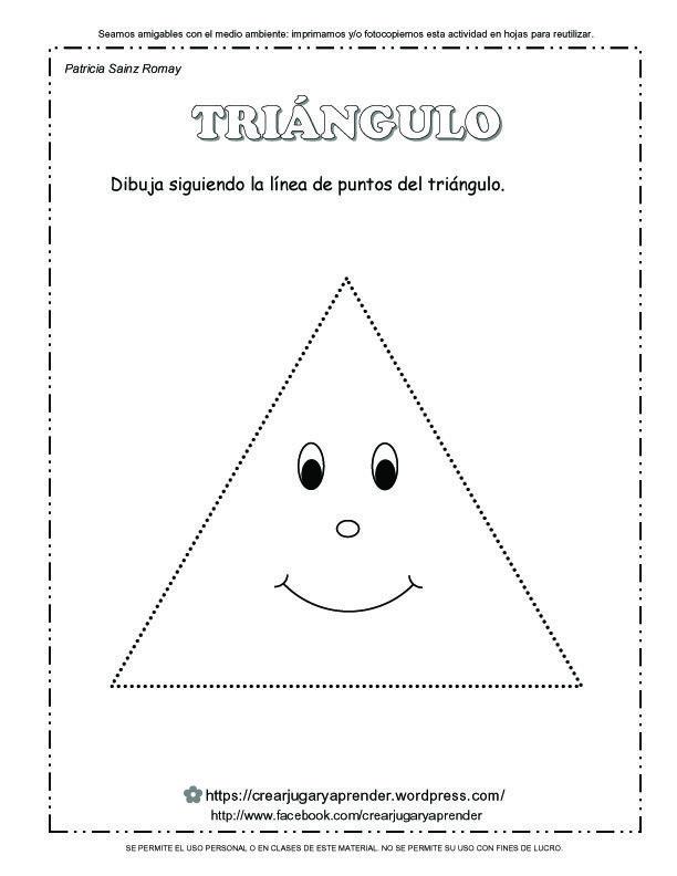 FIGURAS GEOMÉTRICAS PARA REPASAR LA LÍNEA - triángulo
