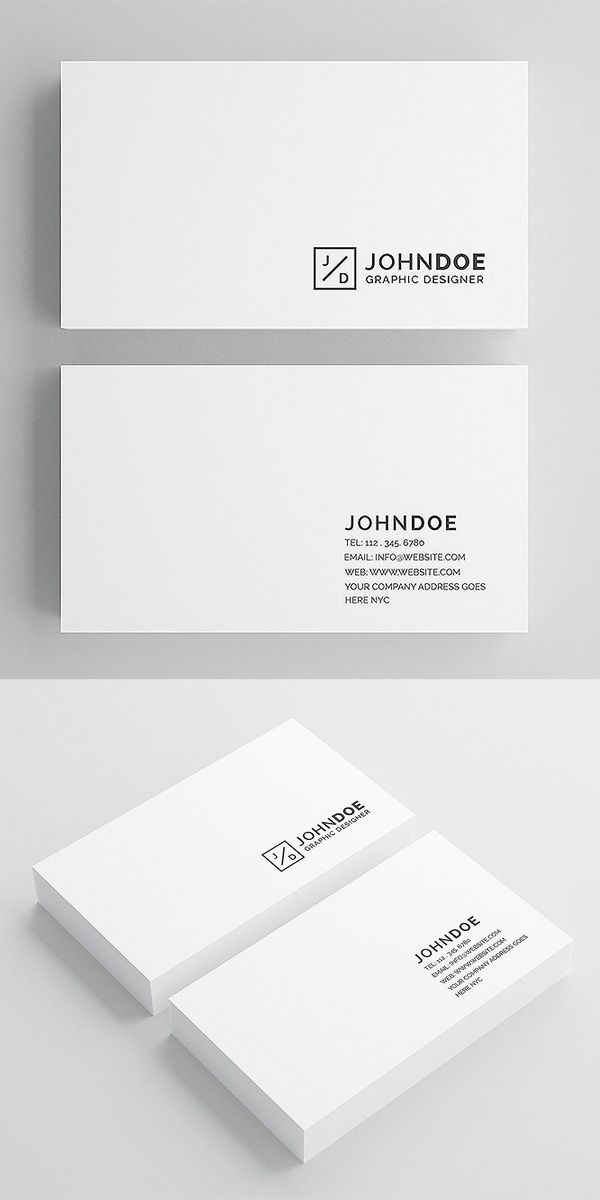 White Modern Business Card Business Card Template Photoshop Busin