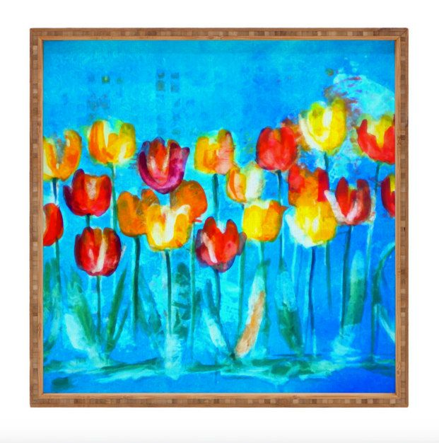 Spring Wedding Gift ideas - Colorful Tulips in Blue for Spring/Summer