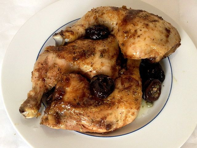 Chicken with Prunes and Oregano | Recipe