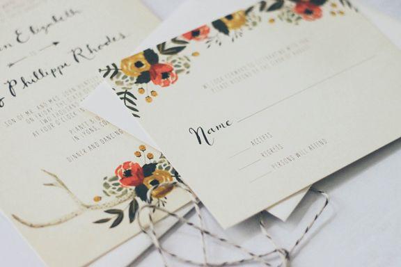 COLORADO RUSTIC INSPIRED WEDDING INVITATION