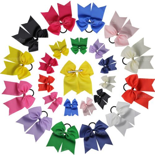 12 girl beatuiful 7'' big hair bow #grosgrain #ribbon #cheerleading hair accessor,  View more on the LINK: http://www.zeppy.io/product/gb/2/112114217981/