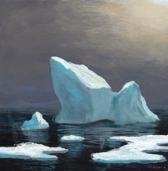 iceberg painting