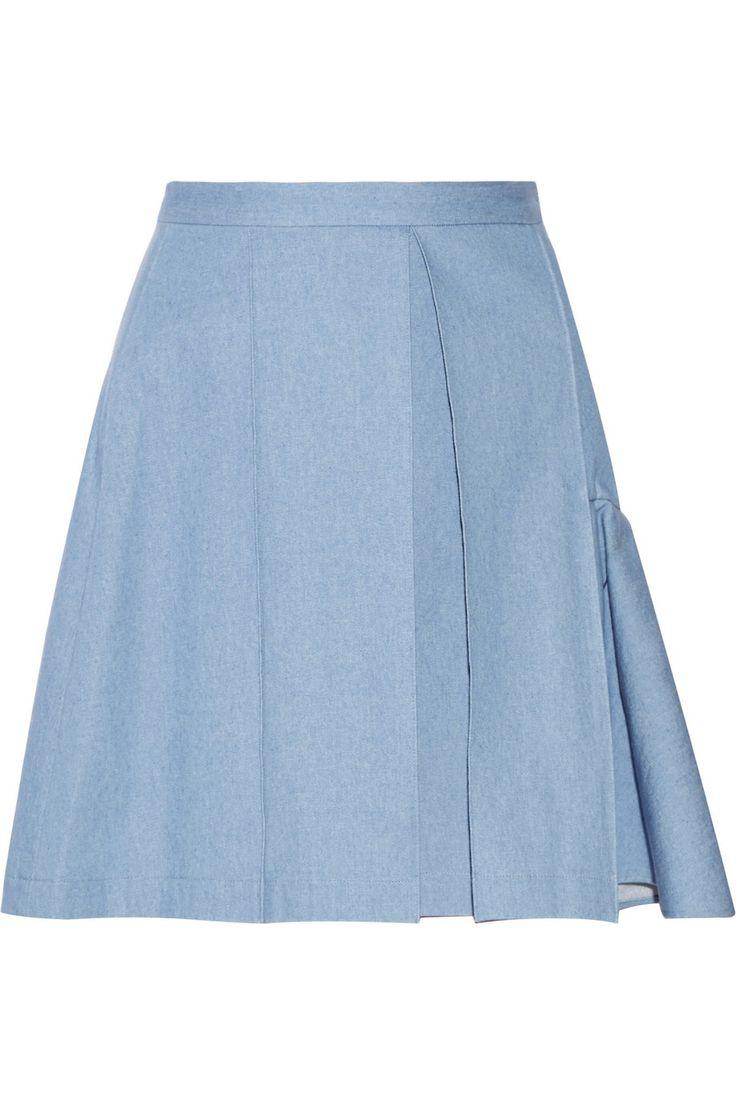 JULIEN DAVID Pleated denim mini skirt $232.75 http://www.theoutnet.com/products/545599